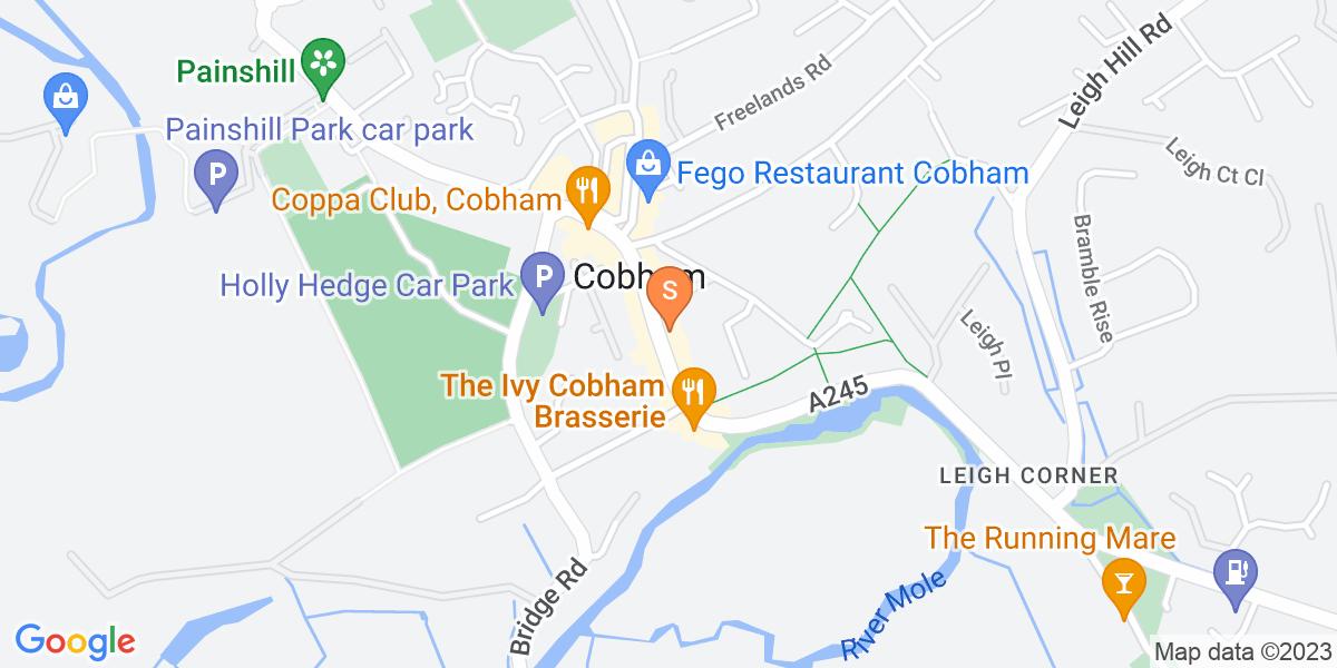 Google Map of 29 - 31 High Street Cobham KT11 3DH