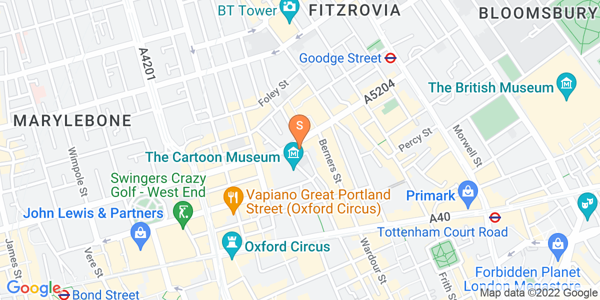 Google Map of 29-35 Mortimer Street London W1T 3JG