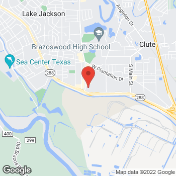 Map of Taco Bell at 1025 Dixie Drive, Clute, TX 77531