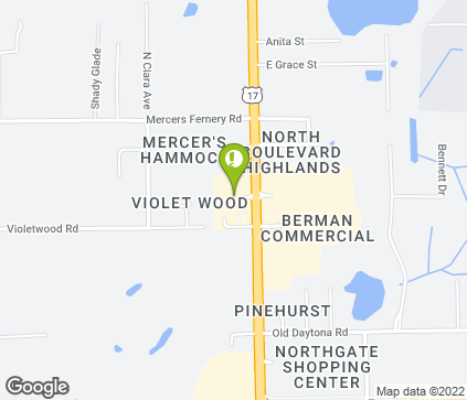 Map of 1702 N Woodland Blvd in Deland
