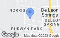 Map of De Leon Springs, FL