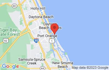 Map of Daytona Beach Shores