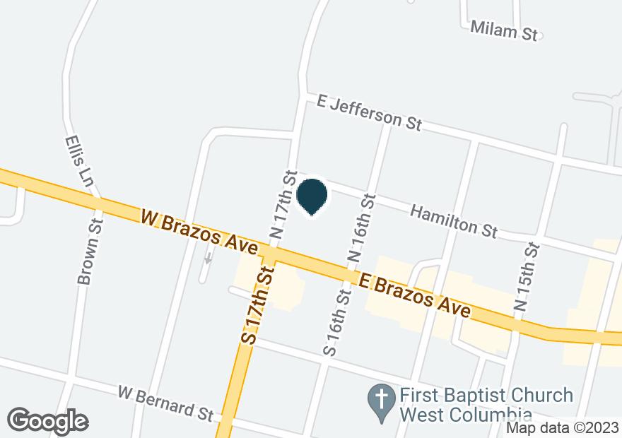 Google Map of100 E BRAZOS AVE