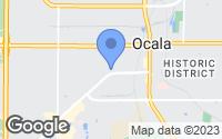 Map of Ocala, FL
