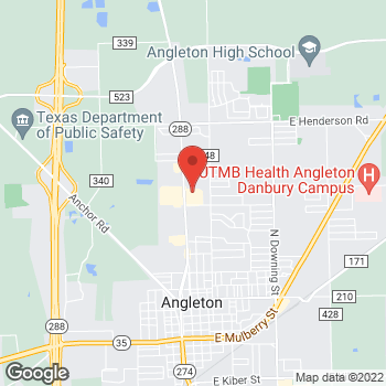 Map of Check `n Go at 1824-A N Velasco, Angleton, TX 77515
