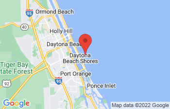 Map of Daytona Beach Shores
