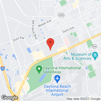 Map of Christopher & Banks at 1700 W International Speedway, #414, Daytona Beach, FL 32114
