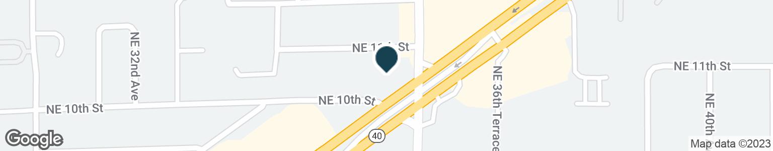 Google Map of3529 E SILVER SPRINGS BLVD