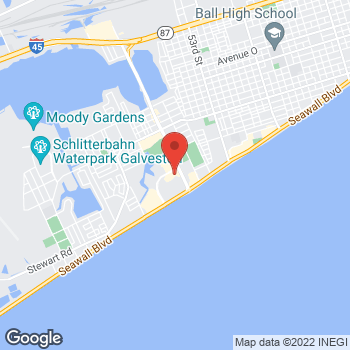Map of Check `n Go at 6155 Central City Blvd., Galveston, TX 77551
