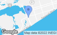 Map of Galveston, TX