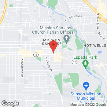 Map of EZPAWN at 903 SE Military Dr., San Antonio, TX 78214