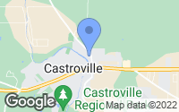 Map of Castroville, TX