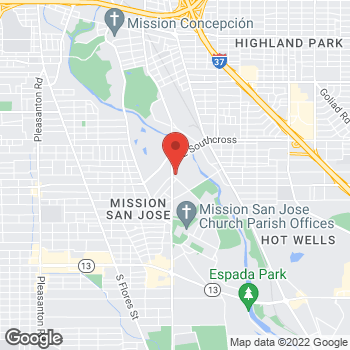 Map of Carquest Auto Parts at 2918-2920 Roosevelt Avenue, San Antonio, TX 78214