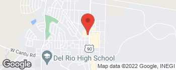 Map of 2400 Veterans Blvd in Del Rio