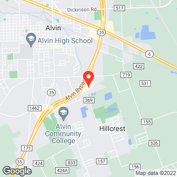 Map of Pizza in Alvin, TX – Cicis Pizza at 1701 Fairway Dr, Alvin, TX 77511