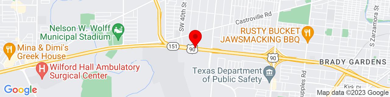 Google Map of 29.4070593, -98.57940889999999