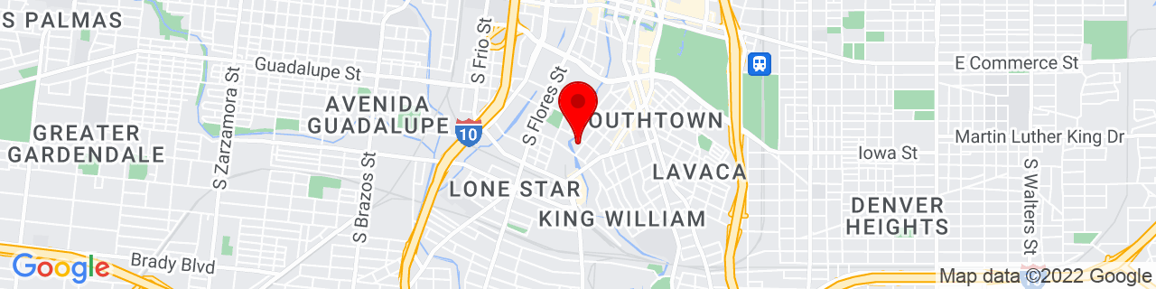 Google Map of 29.4126664, -98.4953577
