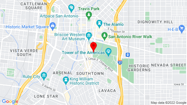 Google Map of 420 S Alamo, San Antonio, TX 78205