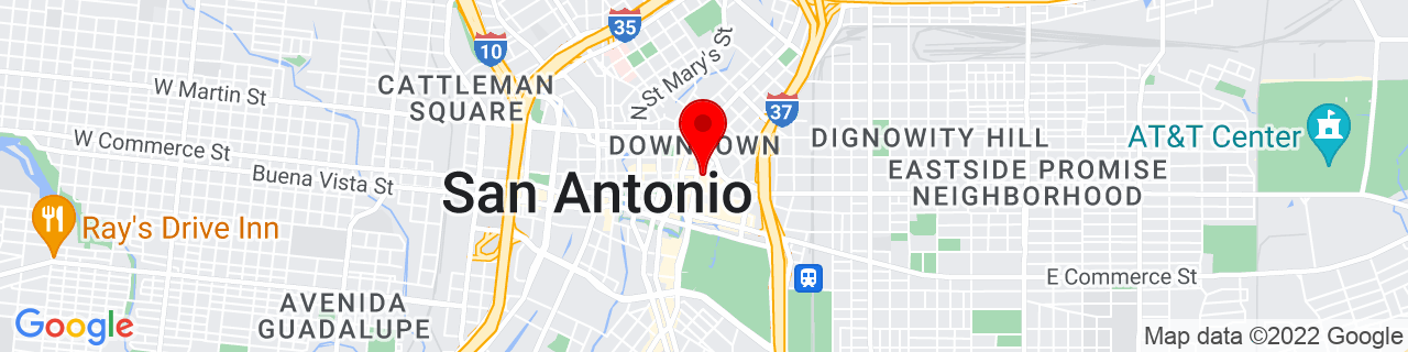 Google Map of 29.426302, -98.48630449999999
