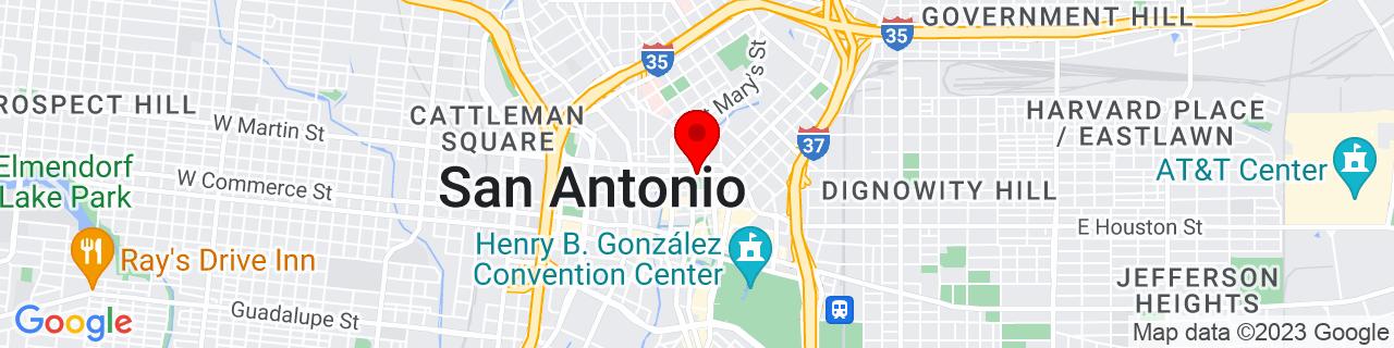 Google Map of 29.4286392, -98.4893453