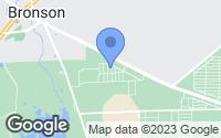 Map of Bronson, FL