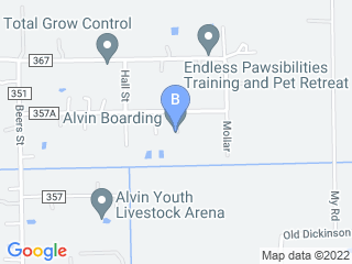 Map of Alvin boarding Dog Boarding options in Alvin | Boarding