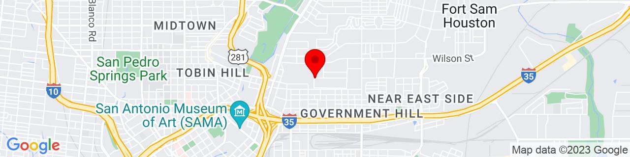 Google Map of 29.4448283, -98.46911510000001