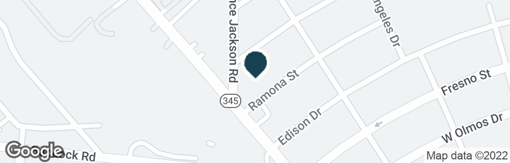 Google Map of3326 FREDERICKSBURG RD