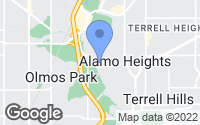 Map of Alamo Heights, TX