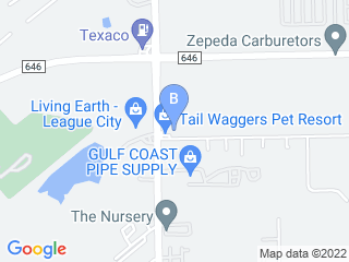 Map of Tail Waggers Pet Resort Dog Boarding options in Dickinson | Boarding