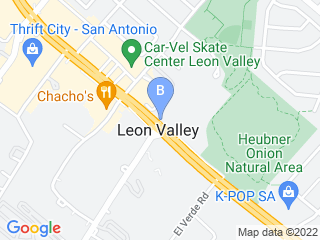 Map of Leon Valley Veterinary Hospital Dog Boarding options in San Antonio | Boarding