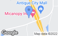 Map of Micanopy, FL