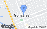 Map of Gonzales, TX