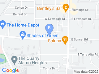 Map of Alamo Heights Kennel Club Dog Boarding options in San Antonio | Boarding