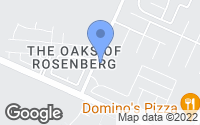 Map of Rosenberg, TX