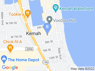 Map of Gregs Grooming Dog Boarding options in Kemah | Boarding