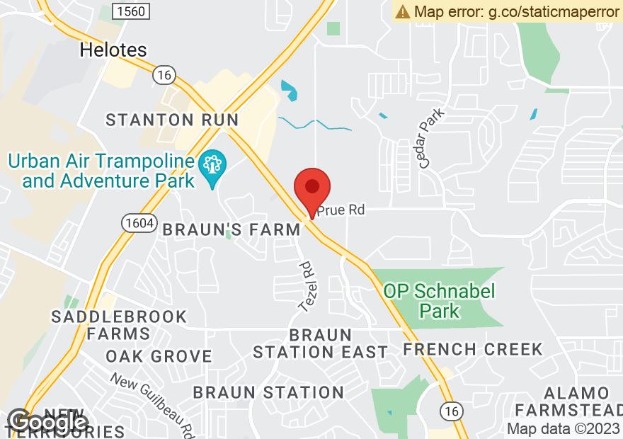 Google Map of 10718 BANDERA RD
