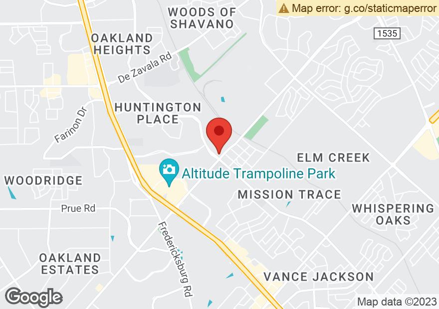 Google Map of 11707 HUEBNER RD