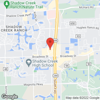 Map of RediClinic at 2805 Business Center Dr, Pearland, TX 77581