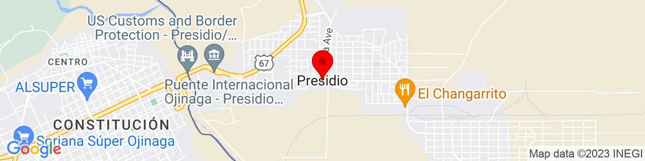 Google Map of 29.5607383, -104.3721465