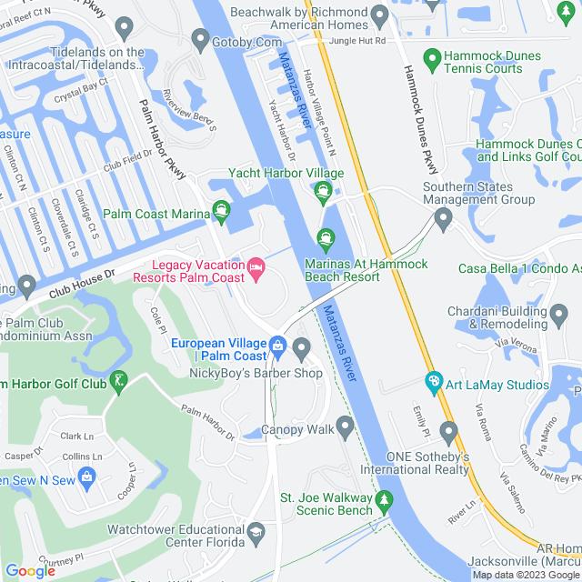 Map of Hammock Dunes Parkway Bridge