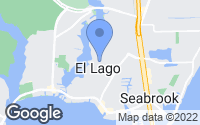 Map of El Lago, TX