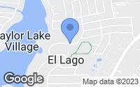Map of El Lago, TX