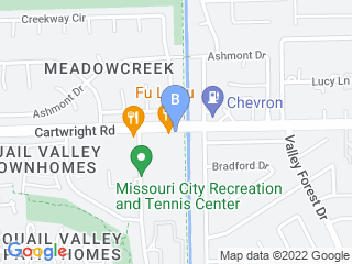 Map of Country Club Groom Inn Dog Boarding options in Missouri City | Boarding