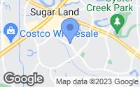 Map of Sugar Land, TX