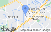 Map of Sugar Land, TX