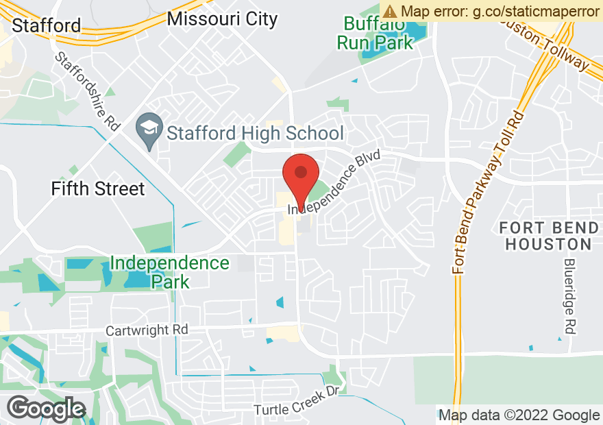 Google Map of 2203 TEXAS PKWY