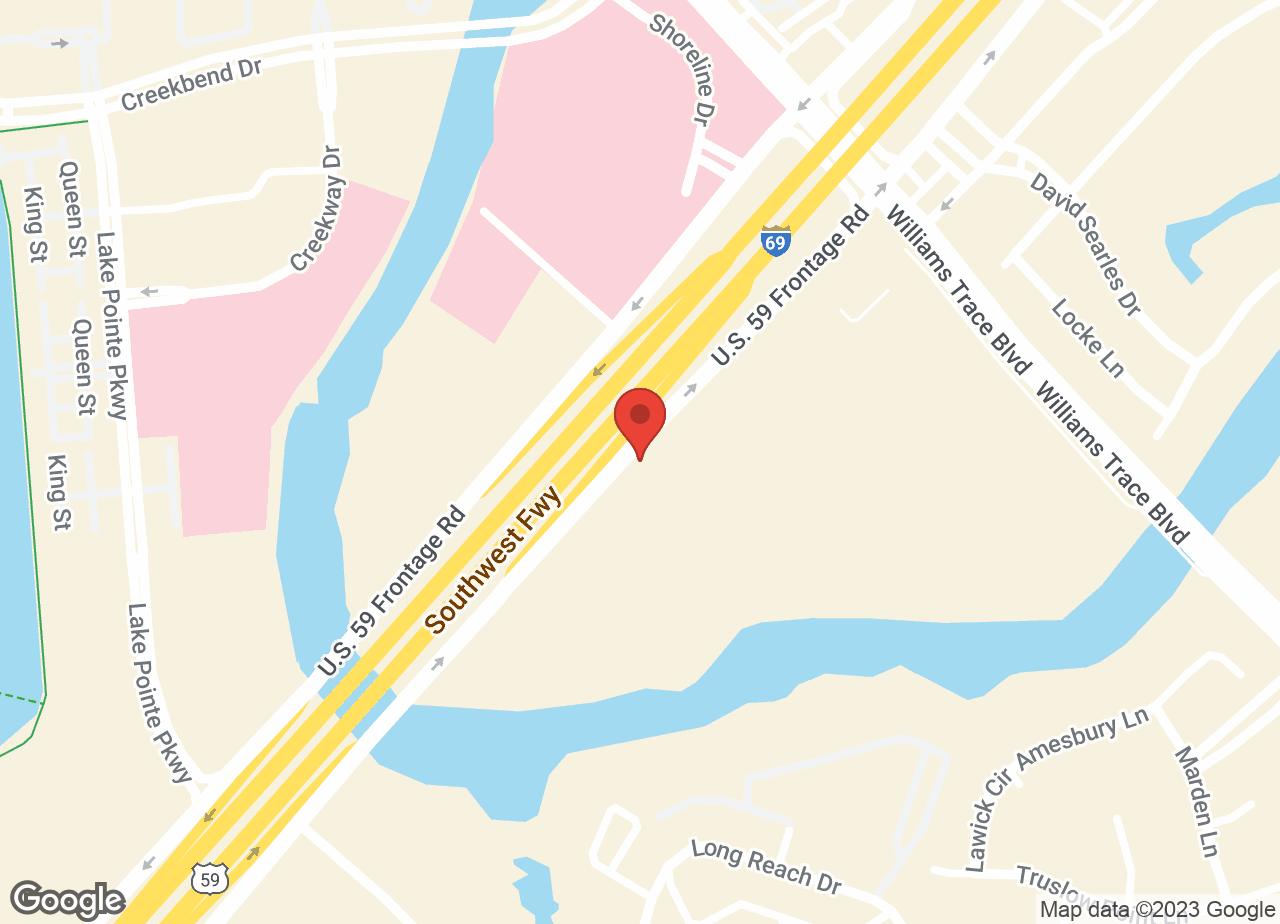 Google Map of VCA Southwest Freeway Animal Hospital