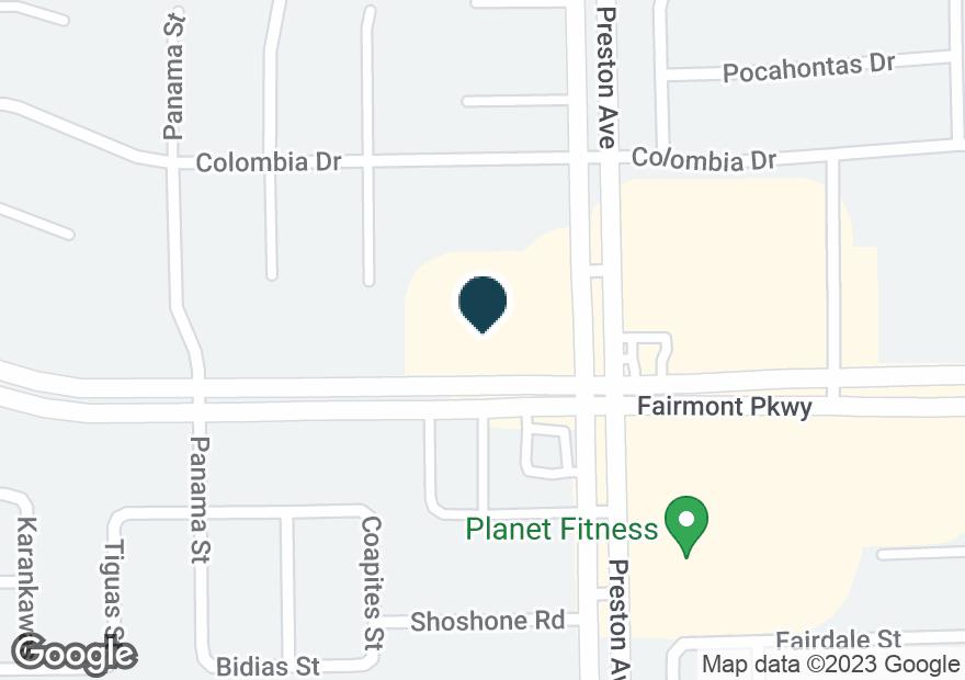 Google Map of4615 FAIRMONT PKWY