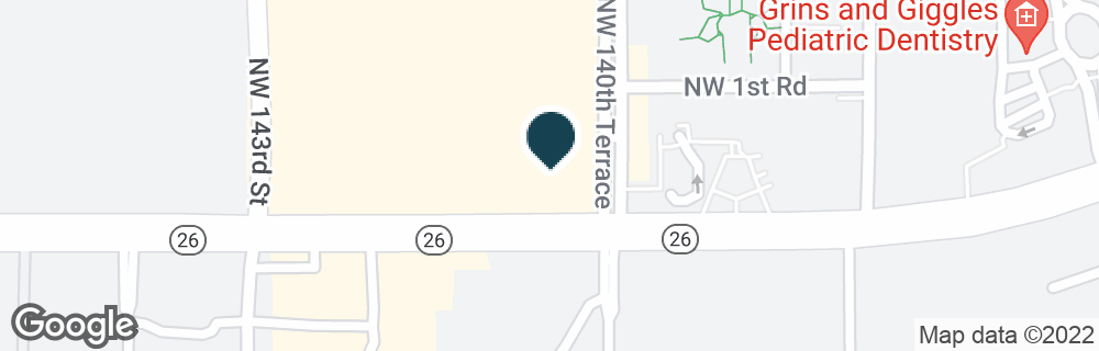 Google Map of14040 W NEWBERRY RD